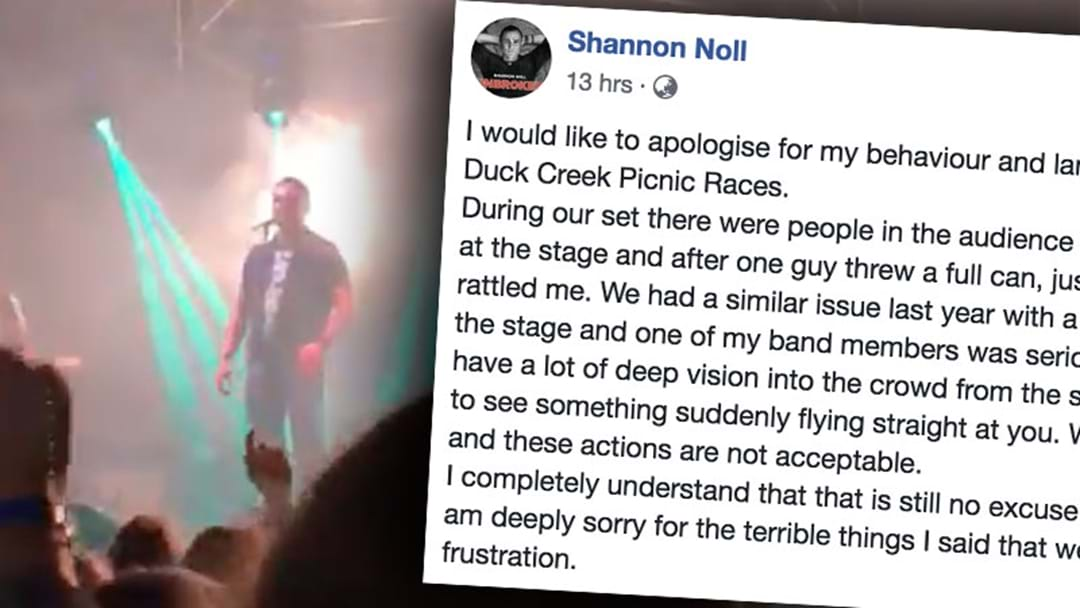 Shannon Noll Apologises For Flipping Out On A Bloke At Duck Creek Picnic Races