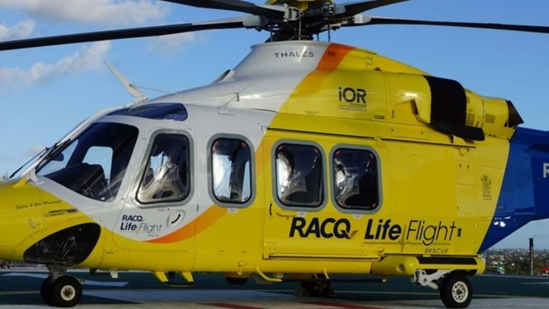 Man Airlifted with Facial Injuries After Motorcycle Crash