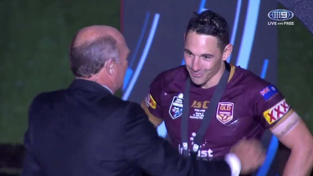 Billy Slater Becomes The First Losing Player To Win The Wally Lewis Medal