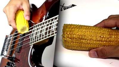 Please Enjoy This Bloke Playing Korn Songs With Corn
