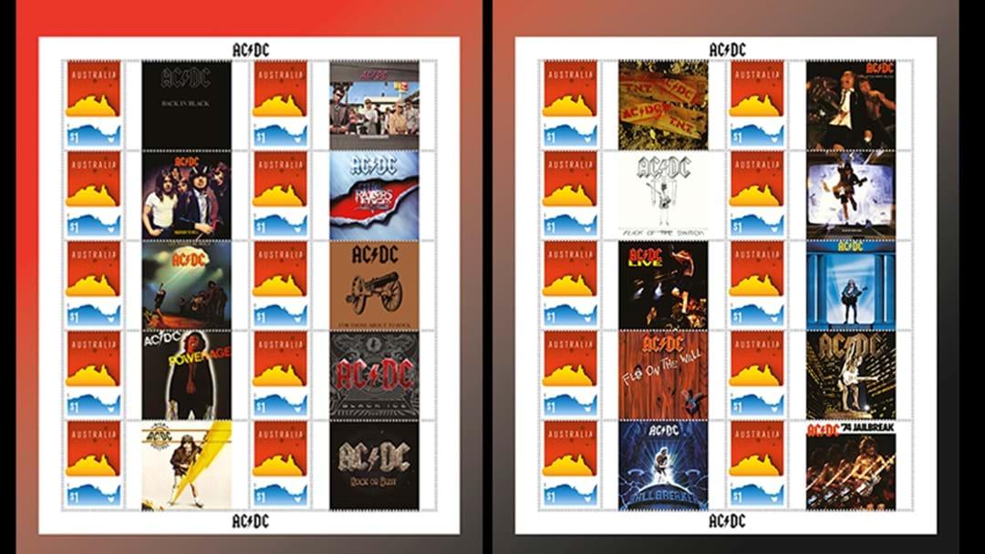 Australia Post Stuff Up AC/DC Stamps