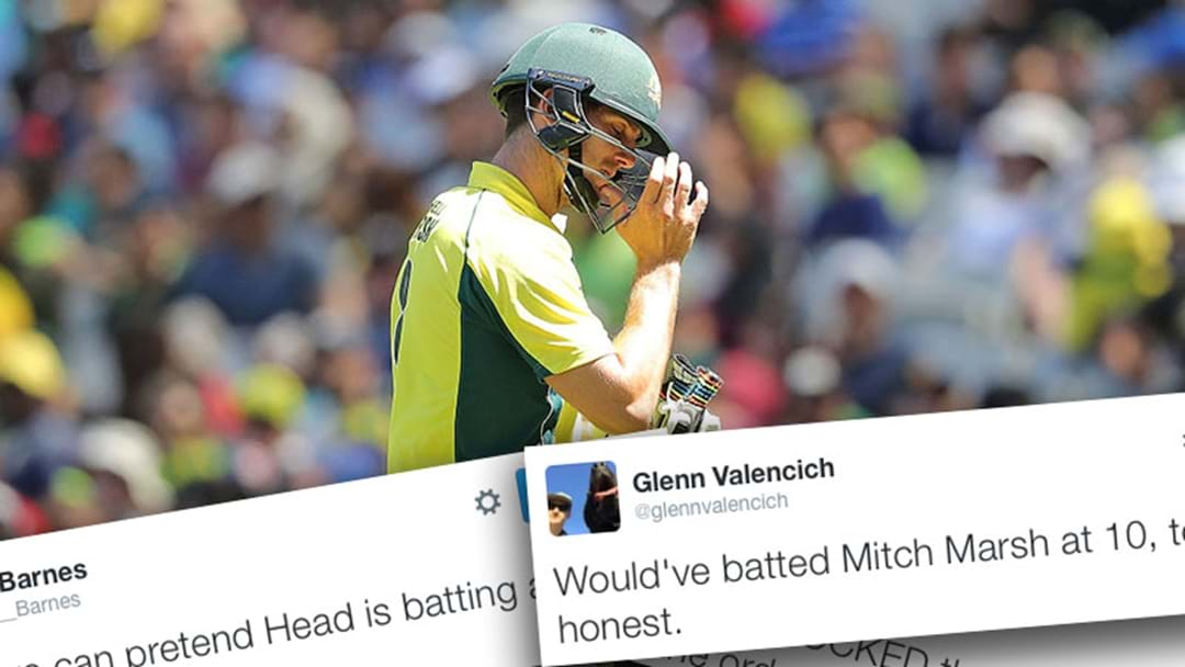 Fans React To Mitch Marsh's Disastrous Golden Duck
