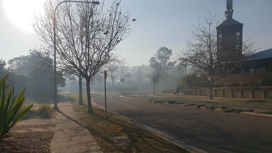 Holsworthy Residents Wake Up To Thick Smoke As Firies Work To Contain Bush Fire