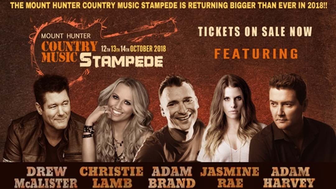2018 Mount Hunter Country Music Stampede Line-up Announced
