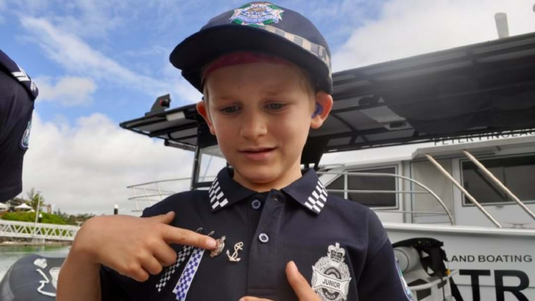 Local Boy Becomes Honorary Member Of Whitsunday Water Police!