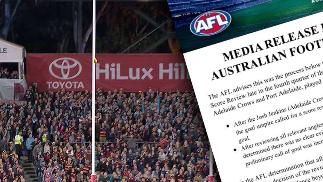 The AFL Has Ticked Off The Controversial Showdown Score Review