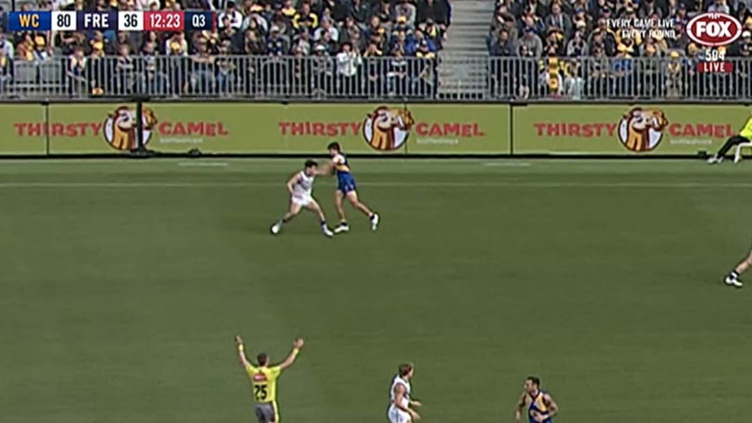 Andrew Gaff In Hot Water For High Hit