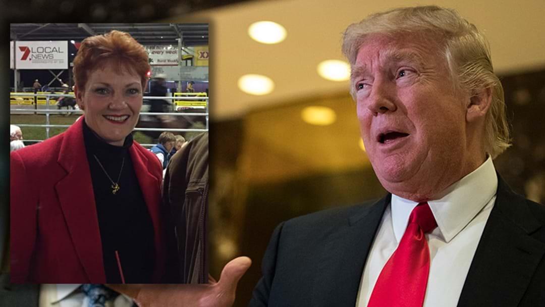 Pauline Hanson Invited To Donald Trump's Inauguration Ceremony