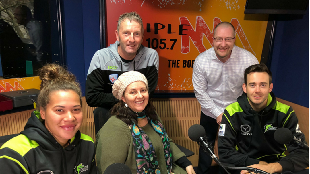 Sydney Thunder Big Bash Players Were In The Studio!