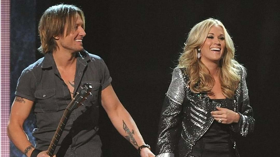 "Keith Urban and Carrie Underwood Celebrate Their #1 Hit ""The Fighter"""