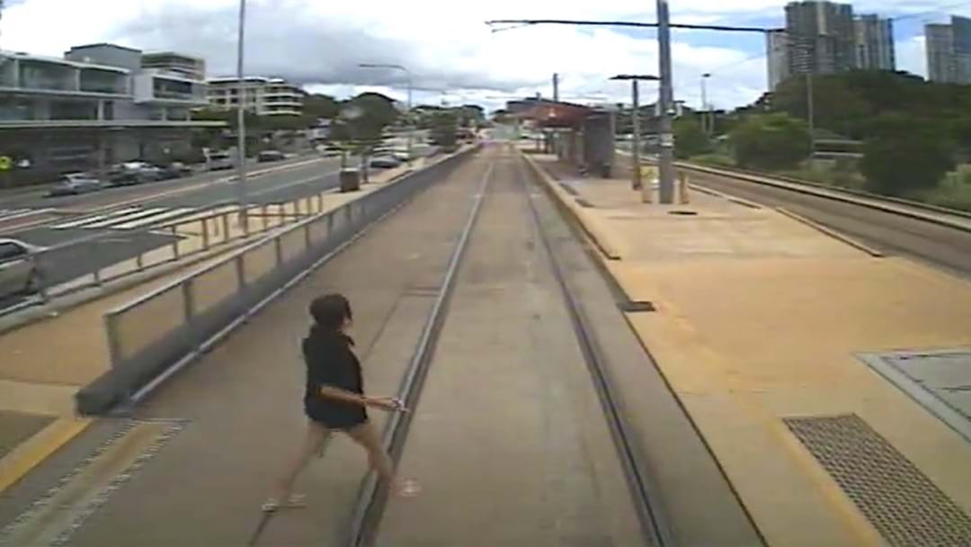 WATCH: Pedestrians Narrowly Avoid Getting Hit By Gold Coast Trams