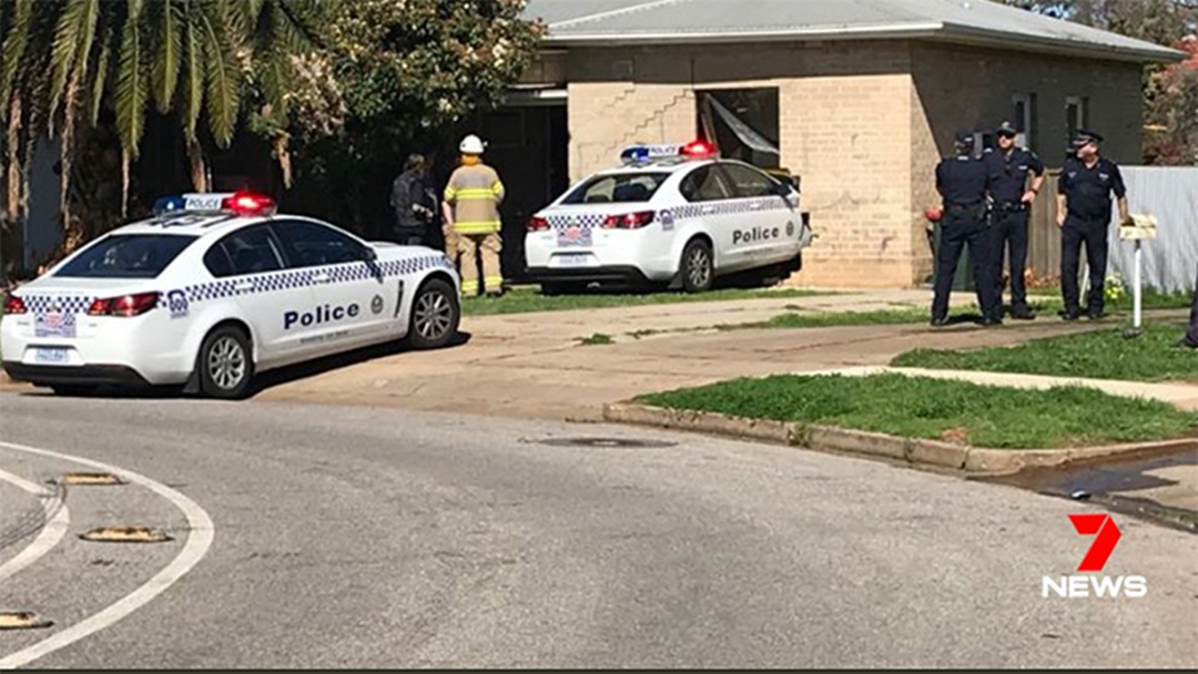 A Police Car Has Crashed Into A House In Adelaide's North