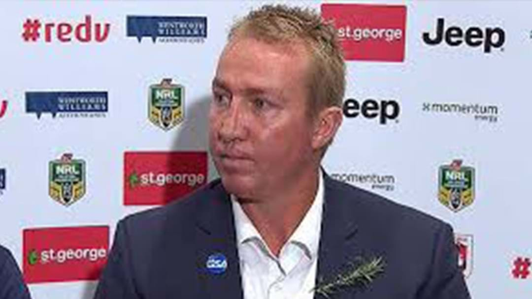Trent Robinson's Bizarre Answer To A Question About The Current NRL Competition