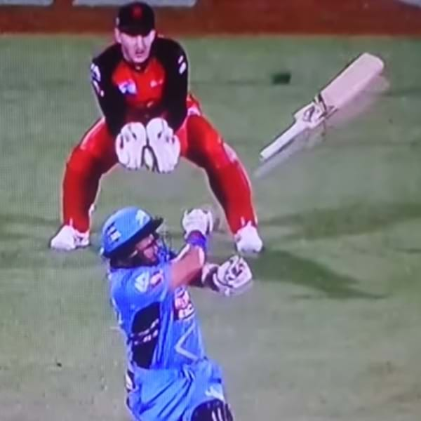 BBL Wicketkeeper Cops A Bat In The Face