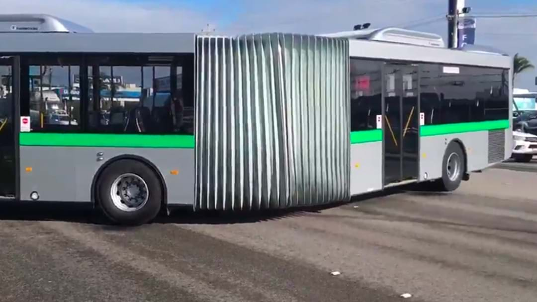 Ever Wondered What Happens When A Transperth Accordion Bus Spins Out?