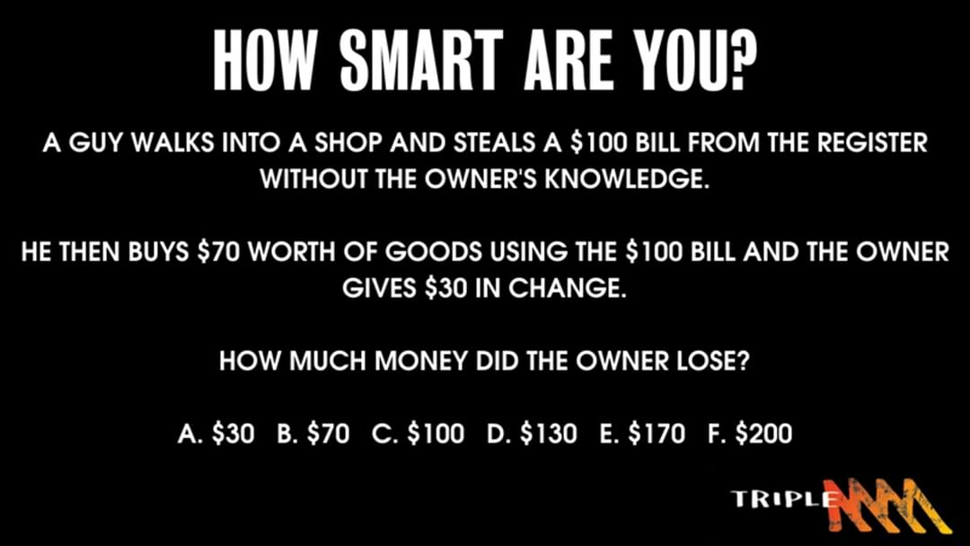 Can you answer this Math Test?