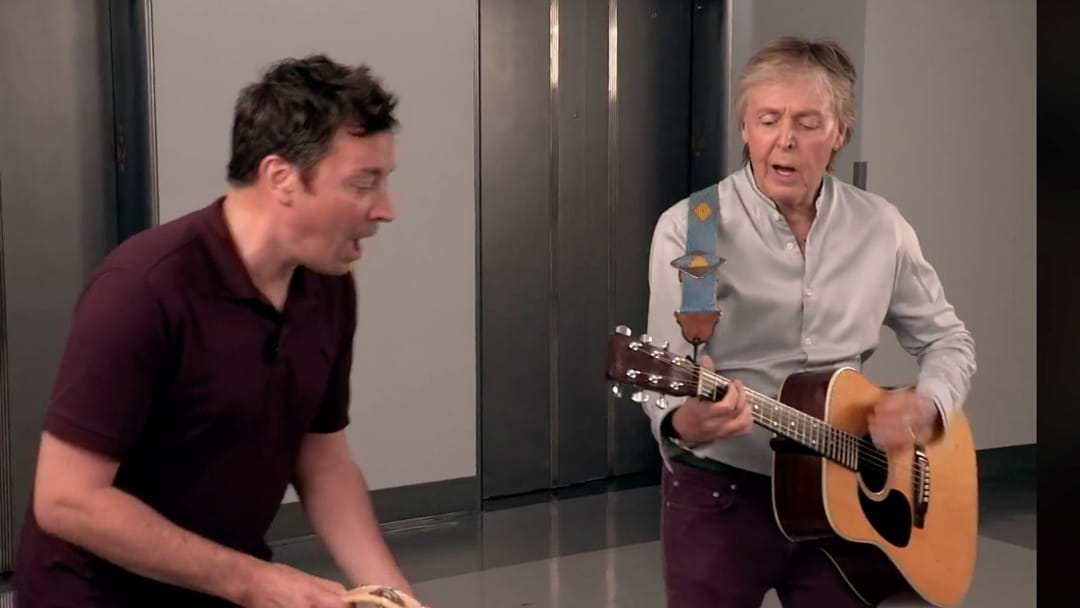 WATCH: Paul McCartney Surprise Fans In 30 Rock Elevator