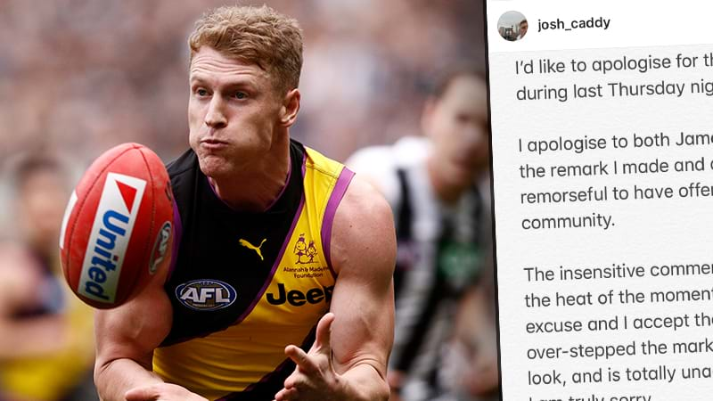 Article heading image for Josh Caddy Apologises For Comments Made To Daniel Howe & James Frawley