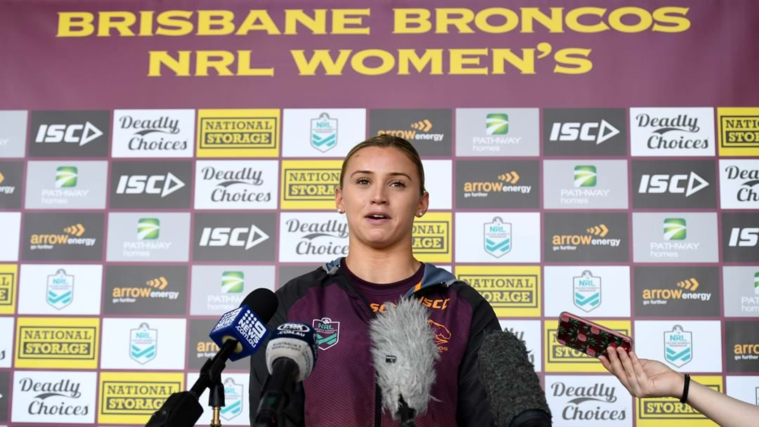 From The Barracks To The Broncos: Julia Robinson's NRLW Journey