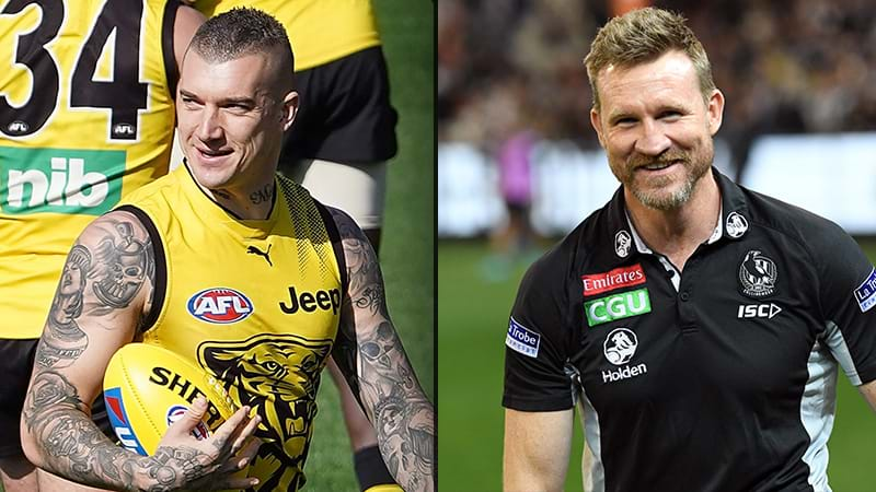 Article heading image for Nathan Buckley Jokes He'll Outsource Dustin Martin's Kidnapping