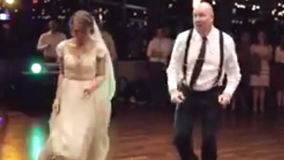 Father/Daughter Wedding Dance Goes Off