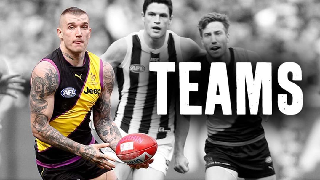 AFL Teams - Prelim Finals, 2018