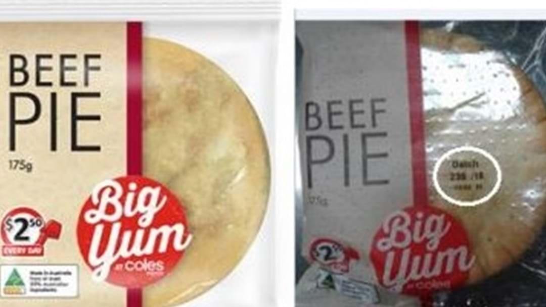 Recall of Coles Express Big Yum Beef Pie