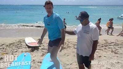 Darce Learns How To Surf!