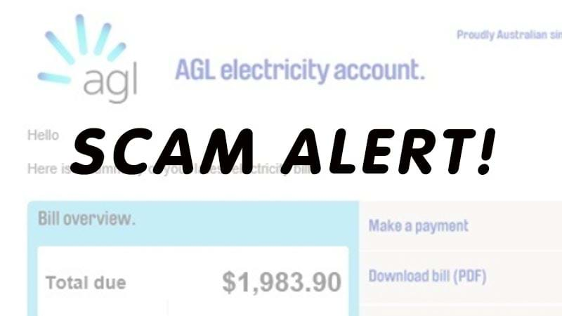 Article heading image for Fake Bill Scare For AGL Customers
