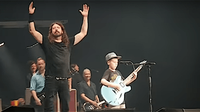 10-Year-Old Kills Metallica Song At Foo Fighters Gig
