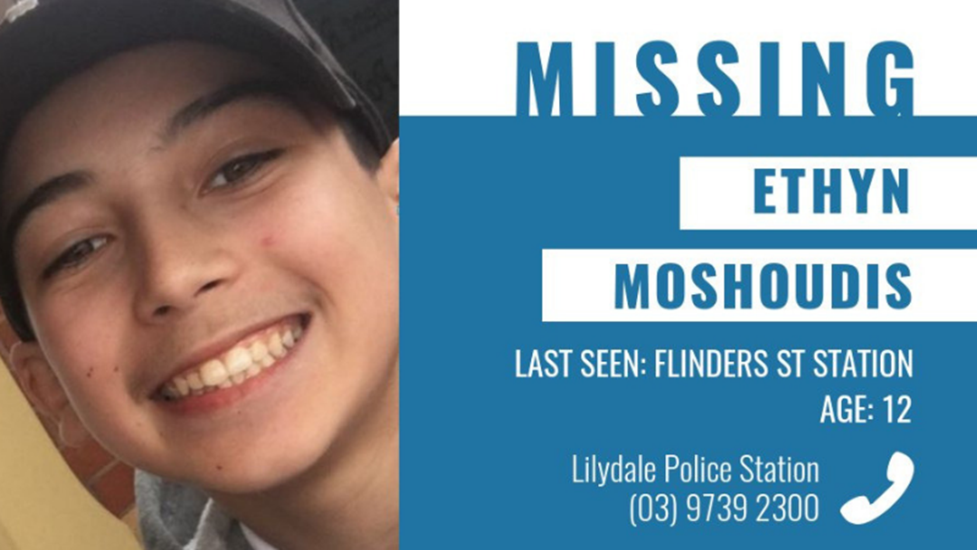 Local 12-Year-Old Ethyn Mashoudis Has Been Reported Missing