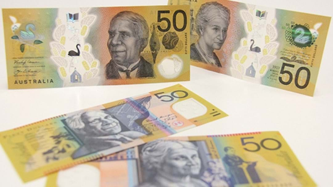 New $50 Australian Banknotes Roll Into Effect!