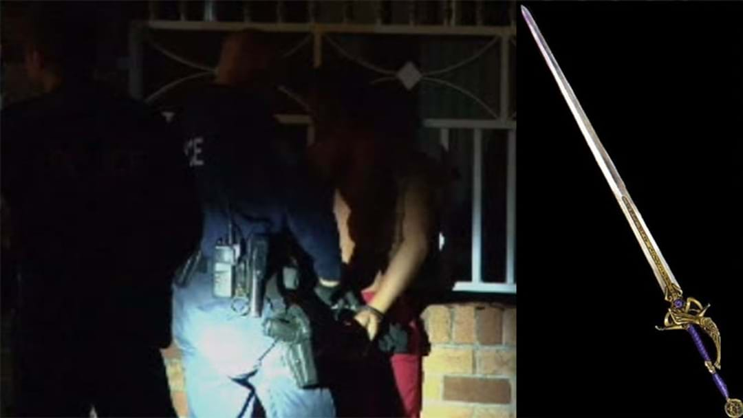 Man Arrested In Sydney's West After Attacking Neighbour With A Sword