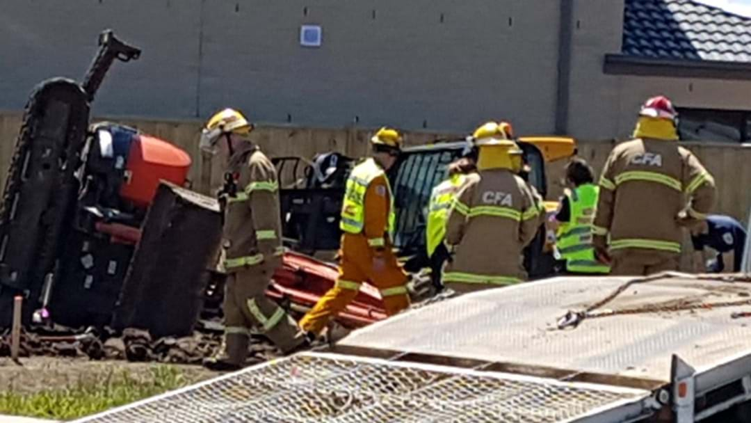 Man Injured After Excavator Accident On Worksite