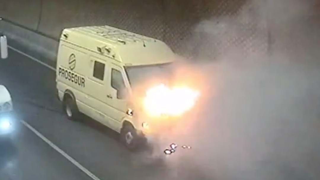 This Remarkable Footage Shows The Moment A Van Caught Fire In The Burnley Tunnel