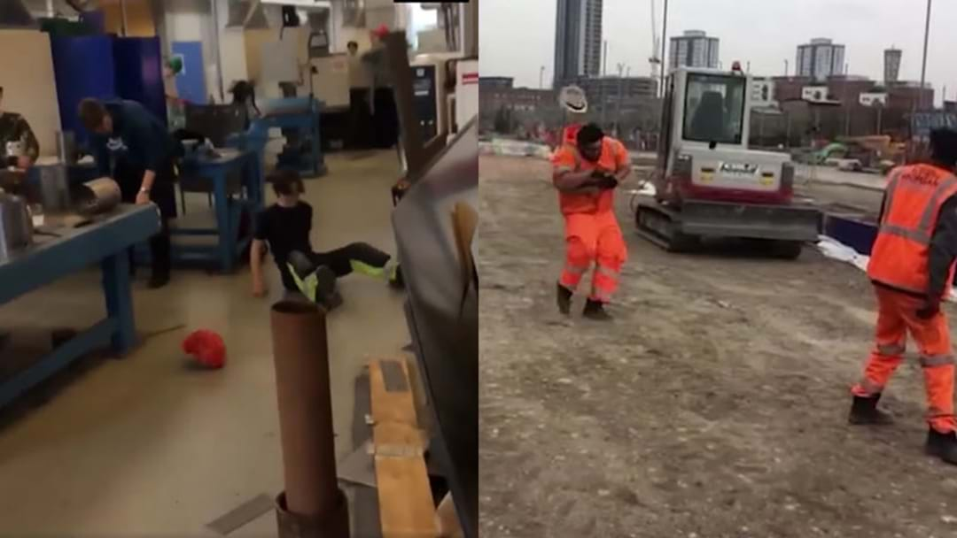 The #HardHatChallenge Is Mercilessly Wiping Out Tradies Left, Right And Centre