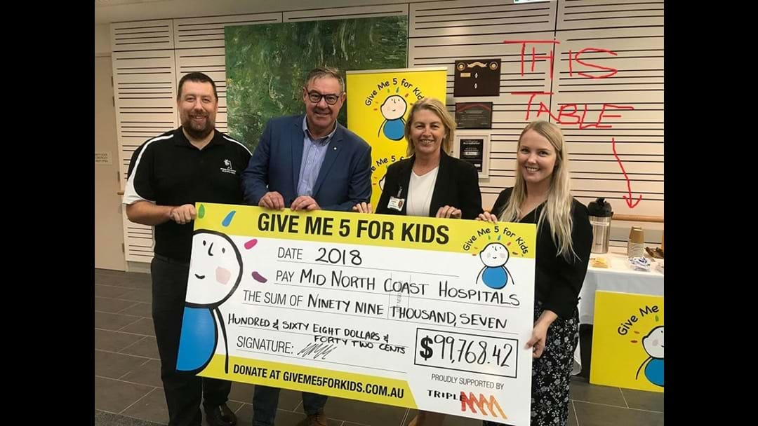What happened at the GMFFK Cheque presentation?