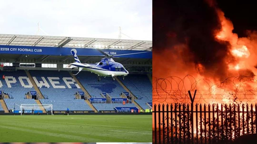 The Helicopter Belonging To The Leicester City Owner Has Crashed Outside Their Soccer Stadium