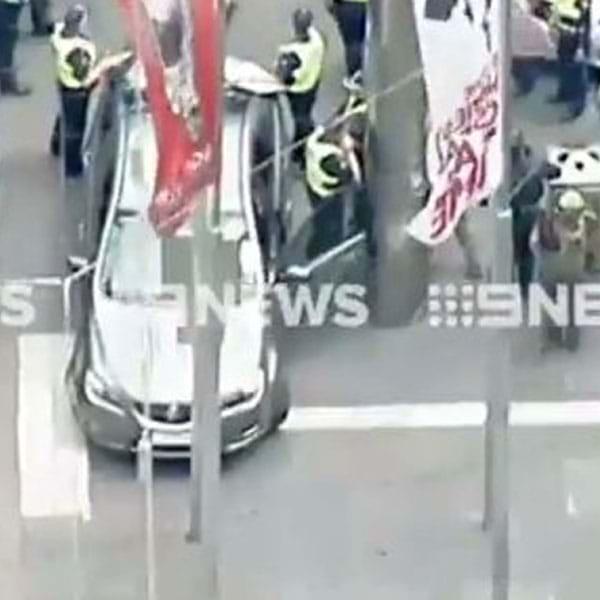 Drama As Car Drives Into Pedestrians