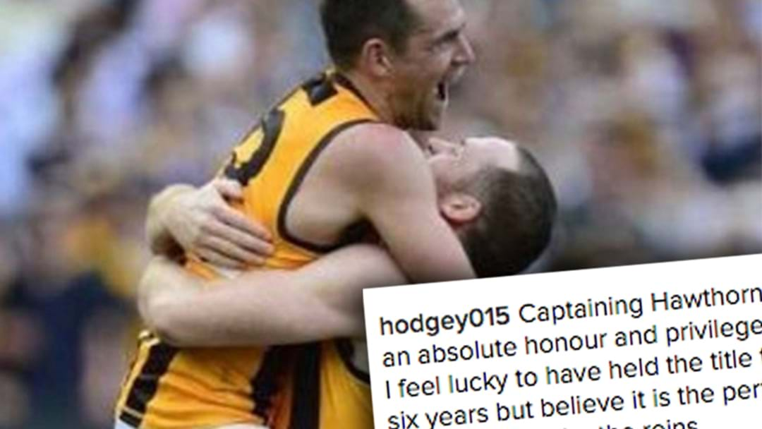 Luke Hodge Posts Heartfelt Message To Roughy On Instagram
