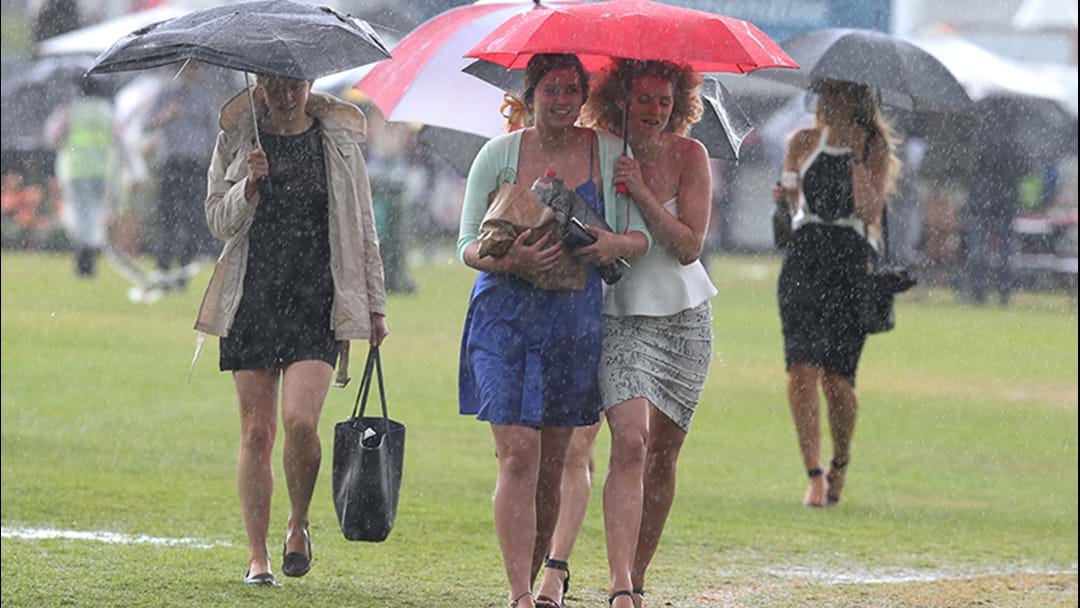 Pack Your Brolly On Race Day 'Cause It's Probably Gonna Piss Down