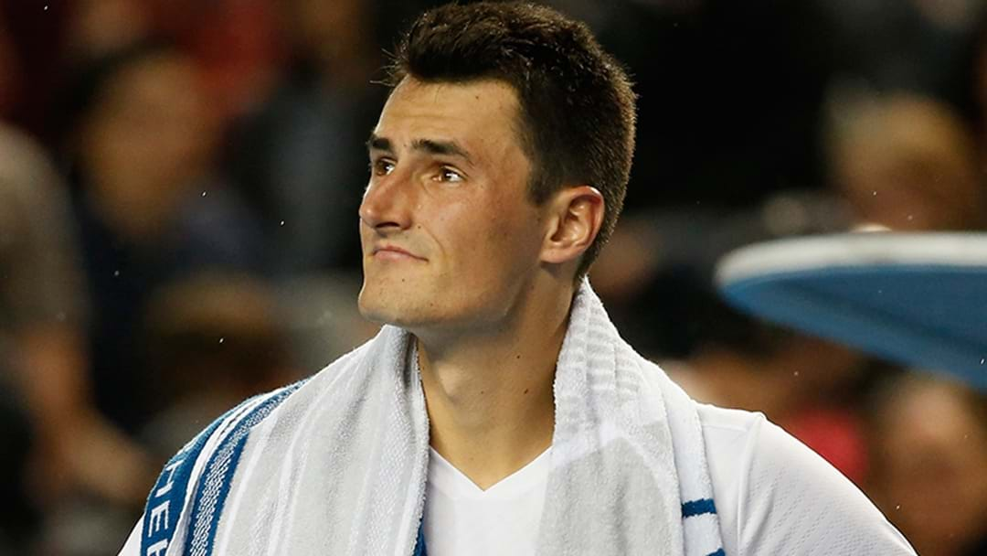 "Bernard Tomic's Box Labelled ""Complete Idiots"""