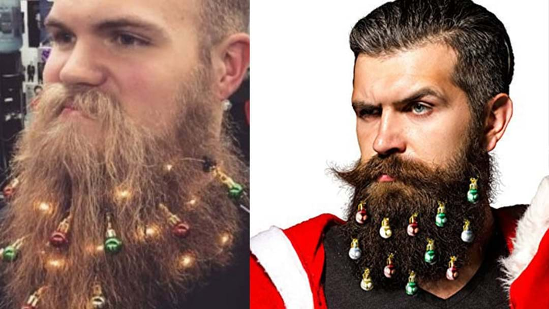 You Can Now Buy Christmas Ornaments & Lights For Your Beard