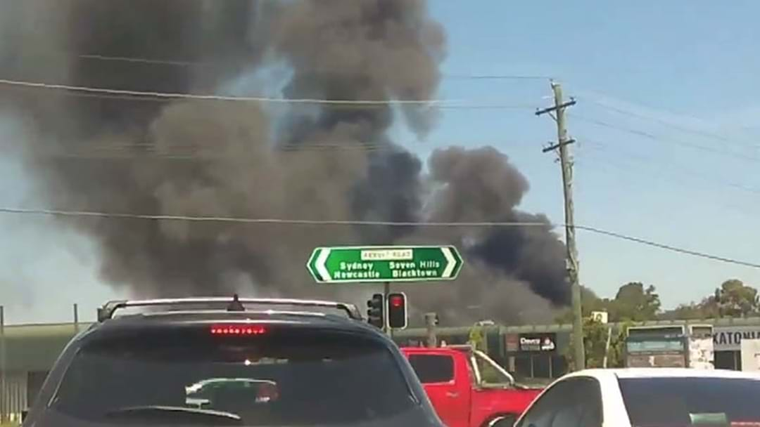 Factory Fire In Sydney's West Causing Traffic Delays