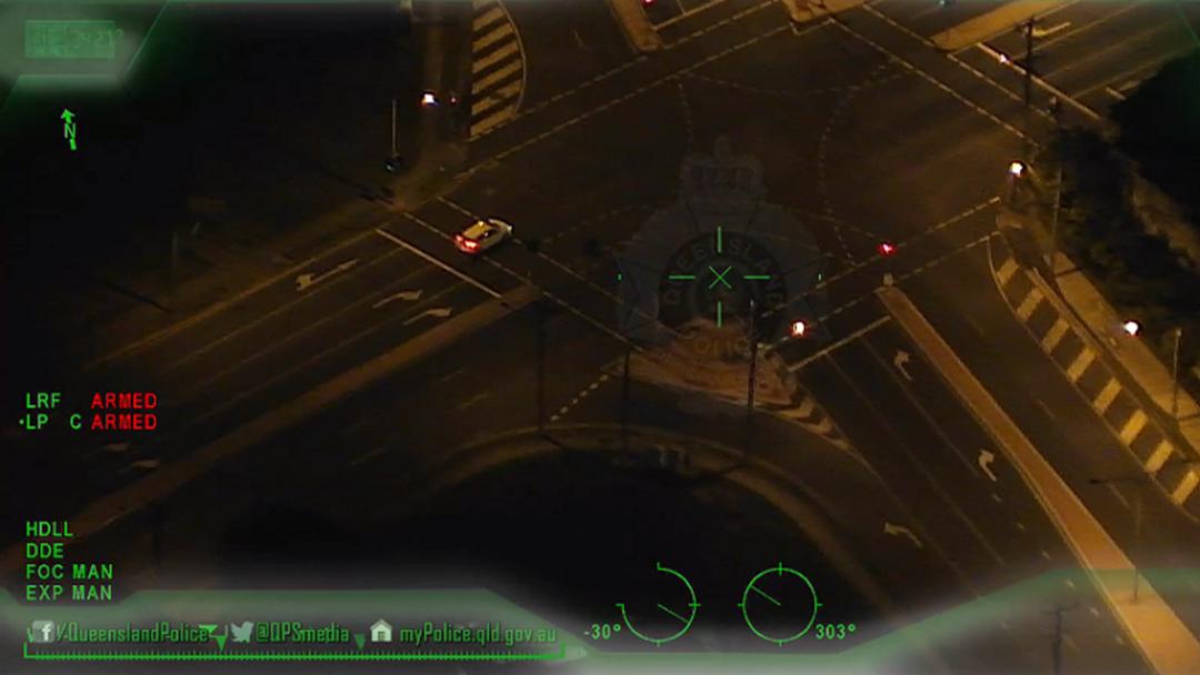 Police Chopper Tracks Stolen Vehicle Through Ashmore