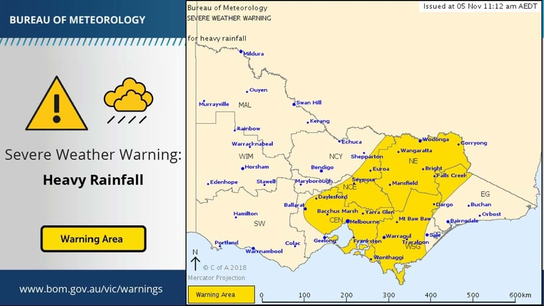 Severe Weather Warning for HEAVY RAINFALL