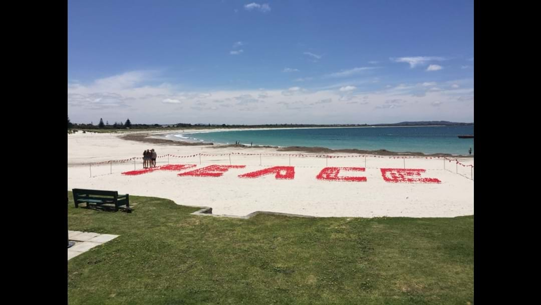 A Message of Peace for Middleton Beach