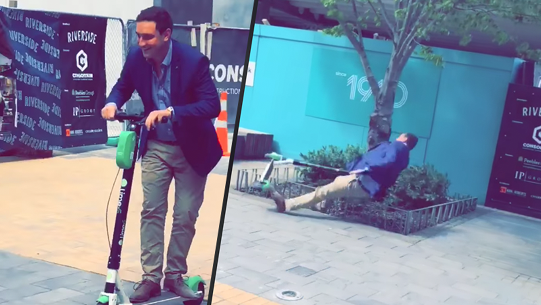 Commuter Scooters Were Launched In NZ And It Took About 0.02 Seconds For Someone To Wreck Themselves