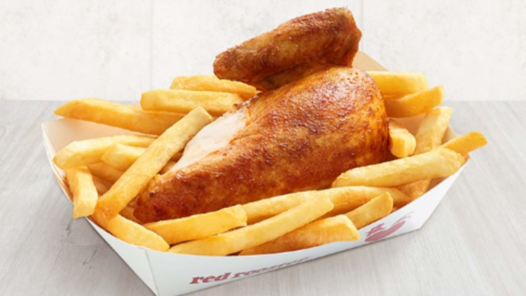 Free Red Rooster Chicken And Chips... TODAY!