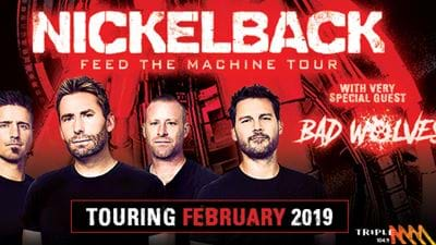 Win VIP Tickets To See Nickelback LIVE In Sydney